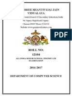 computer science project file for class XII CBSE on the