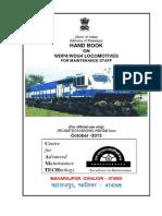 Handbook on WDP4 WDG4 Locomotives for Maintenance Staff
