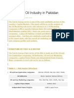 Analysis of Oil Industry in Pakistan