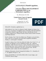 Edward M. Alexanian v. New York State Urban Development Corporation, 554 F.2d 15, 2d Cir. (1977)