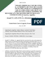 United States v. Joseph W. Laplante, Jr., 108 F.3d 330, 2d Cir. (1997)
