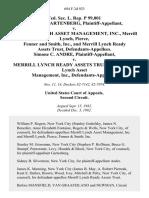 Fed. Sec. L. Rep. P 99,001 Irving L. Gartenberg v. Merrill Lynch Asset Management, Inc., Merrill Lynch, Pierce, Fenner and Smith, Inc., and Merrill Lynch Ready Assets Trust, Simone C. Andre v. Merrill Lynch Ready Assets Trust, and Merrill Lynch Asset Management, Inc., 694 F.2d 923, 2d Cir. (1982)