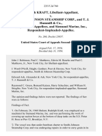 Rudolph Kraft, Libellant-Appellant v. Smith & Johnson Steamship Corp., and T. J. Hammill & Co., and Siemund Marine, Inc., Respondent-Impleaded-Appellee, 235 F.2d 760, 2d Cir. (1956)