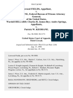 Linwood Fields v. Patrick Keohane, Federal Bureau of Prisons Attorney General, of the United States. Wardell Hillard Charles R. James-Bey Andre Springs v. Patrick W. Keohane, 954 F.2d 945, 3rd Cir. (1992)