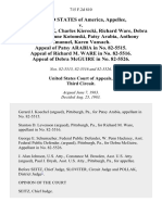 United States v. Kathleen Novak, Charles Kierecki, Richard Ware, Debra McGuire Joanne Kotomski, Patsy Arabia, Anthony Emanuel, Karen Vansach. Appeal of Patsy Arabia in No. 82-5515. Appeal of Richard M. Ware in No. 82-5516. Appeal of Debra McGuire in No. 82-5526, 715 F.2d 810, 3rd Cir. (1983)