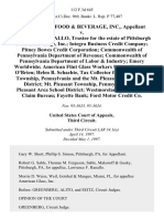 Pittsburgh Food & Beverage, Inc. v. Lawrence F. Ranallo, Trustee for the Estate of Pittsburgh Food & Beverage, Inc. Integra Business Credit Company Pitney Bowes Credit Corporation Commonwealth of Pennsylvania Department of Revenue Commonwealth of Pennsylvania Department of Labor & Industry Emery Worldwide American Flint Glass Workers Union Kathryn O'Brien Helen B. Schachte, Tax Collector for Mt. Pleasant Township, Pennsylvania and the Mt. Pleasant Area School District Mt. Pleasant Township, Pennsylvania Mt. Pleasant Area School District Westmoreland County Tax Claim Bureau Fayette Bank Ford Motor Credit Co, 112 F.3d 645, 3rd Cir. (1997)