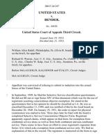 United States v. Bender, 206 F.2d 247, 3rd Cir. (1953)
