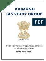 ABhimanyu PRE 2016 GOVT Schemes