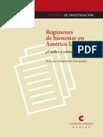 FRANZONI. Regímenes de Bienestar en América Latina