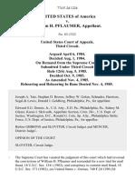 United States v. William H. Pflaumer, 774 F.2d 1224, 3rd Cir. (1984)