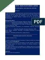 Descripción Asignaturas I-2016