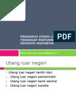 Pengaruh Utang Luar Negeri Terhadap Pertumbuhan Ekonomi Indonesia