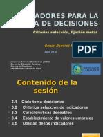 II- Indicadores criterios de selección y metas