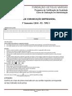 2010.1 P2 - Comunicação Empresarial - T1