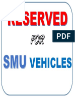 Reserved Smu Vehicles