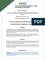 PA1. Polarizacion de Campos