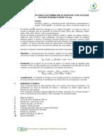 Tecnica Analitica Para La Determinación de Nitrogeno Total Kjledahl en Aguas Residuales