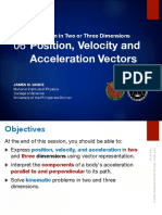 1.06 Position, Velocity and Acceleration Vectors