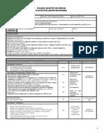 Plan de evaluación Bloque I PRIMER GRADO