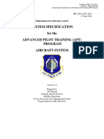 Section J Attachment 3, APT Aircraft Systems Specification