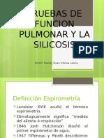 Pruebas de Funcion Pulmonar y La Silicosis