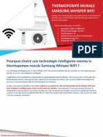 Comparer 3 Prix Thermopompes - Whisper WIFI par Samsung (thermopompe murale)