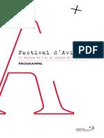 Programme Festival Avignon 2011