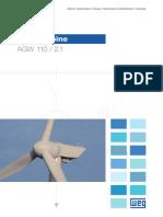 WEG Wind Turbine Agw 110 2.1 50049460 Brochure English