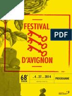 Programme Festival Avignon 2014