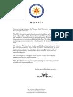 Message from VP Leni Robredo