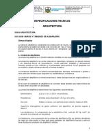 Especificaciones Tecnicas Arq. IEI 148 Final