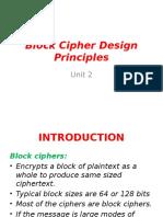 Block Cipher Design Priciples