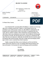 speech ipad letter for milana with letterhead