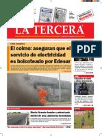 Diario La Tercera 09.08.2016