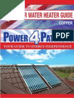 Water Heater - Solar Copper Manual