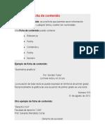 Ejemplo de Ficha de Contenido