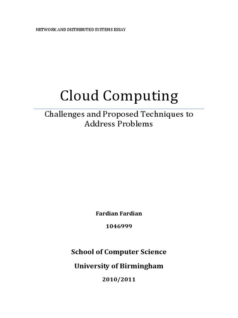 Cloud Computing Essay  Copy  Software As A Service  Cloud Computing