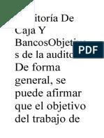 Auditoría De Caja Y BancosObjetivos de la auditoría.docx