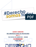 Quinto Semestre Recomendaciones  DERECHO UNAM