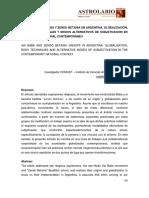 GLOBALIZACIÓN, TÉCNICAS CORPORALES Y MODOS ALTERNATIVOS DE SUBJETIVACIÓN EN EL CONTEXTO NACIONAL CONTEMPORÁNEO