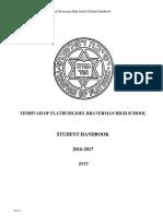 Student Handbook 2016-2017