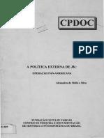 Alexandre de Melo e Silva - A Política Externa de JK - Operação Pan-Americana