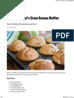 Green Banana Muffins