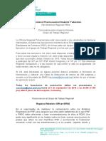 Call for IPSF PARO Regional Relations Officer 2016-2017 (Español)