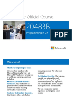 Microsoft Official Course 20483B