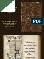 Escritos centenarios.pps