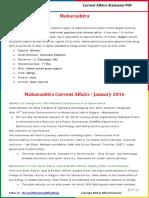 Maharashtra Current Affairs 2016(Jan - Apr) by AffairsCloud