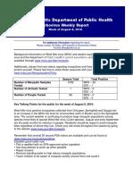 DPH Week of 8-8-16 Arbo Legislative Report