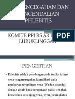 Spo Pencegahan Dan Pengendalian Phelebitis