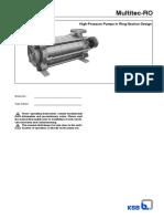 Multitec RO - 1777.82-10 Instruciones de Operación